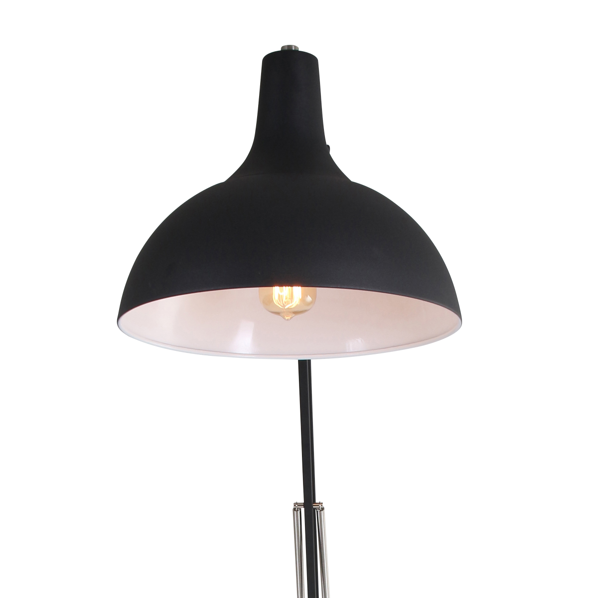 giga industrielle stehlampe schwarz stehlampen online. Black Bedroom Furniture Sets. Home Design Ideas